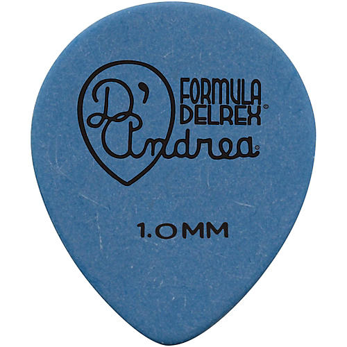 D'Andrea 347 Rounded Teardrop Delrex Delrin Guitar Picks One Dozen