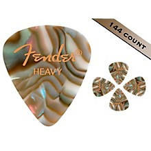 Fender 351 Premium Heavy Guitar Picks - 144 Count Abalone Moto