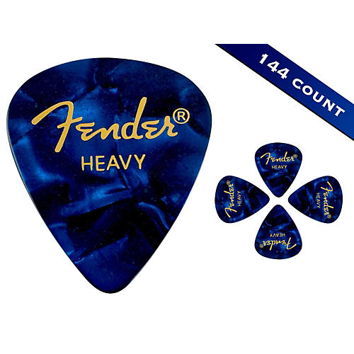 Fender 351 Premium Heavy Guitar Picks - 144 Count Blue Moto
