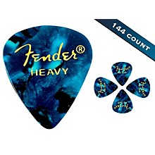 Fender 351 Premium Heavy Guitar Picks - 144 Count Ocean Turquoise Moto