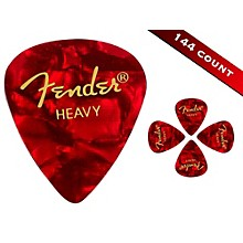 Fender 351 Premium Heavy Guitar Picks - 144 Count Red Moto