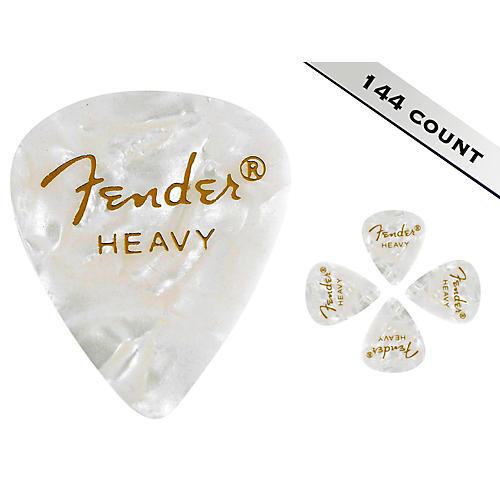 Fender 351 Premium Heavy Guitar Picks - 144 Count White Moto