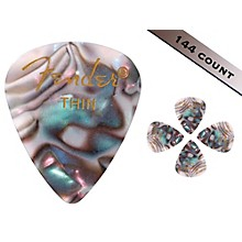 Fender 351 Premium Thin Guitar Picks - 144 Count Abalone Moto