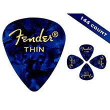 Fender 351 Premium Thin Guitar Picks - 144 Count Blue Moto