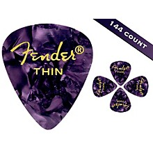 Fender 351 Premium Thin Guitar Picks - 144 Count Purple Moto
