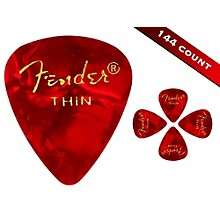 Fender 351 Premium Thin Guitar Picks - 144 Count Red Moto