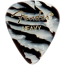 Fender 351 Shape Premium Picks, Zebra Celluloid