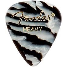 Fender 351 Shape Premium Picks, Zebra Celluloid