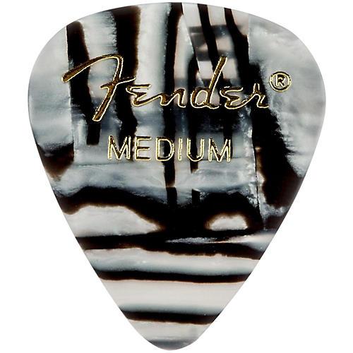 Fender 351 Shape Premium Picks, Zebra Celluloid Medium 12 Pack