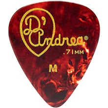 D'Andrea 351 Vintage Celluloid Guitar Picks One Dozen Shell .71 mm