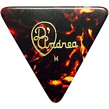 D'Andrea 355 Triangle Celluloid Guitar Picks One Dozen Shell Heavy