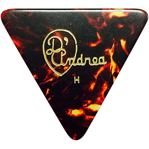 D'Andrea 355 Triangle Celluloid Guitar Picks One Dozen