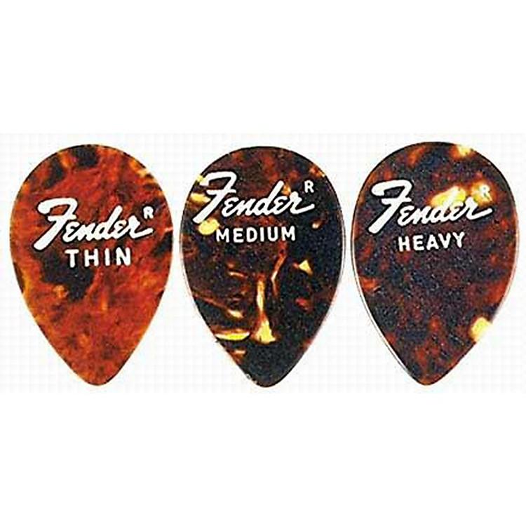 Fender358 Jazz Guitar Pick ShellHeavy6 Dozen