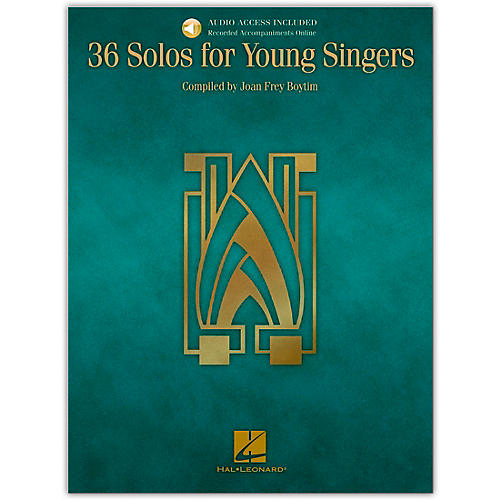 Hal Leonard 36 Solos for Young Singers Book/CD
