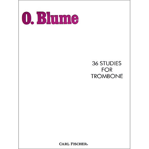 Carl Fischer 36 Studies for Trombone