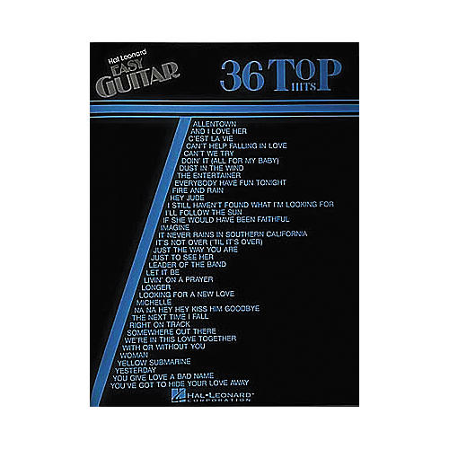 Hal Leonard 36 Top Hits Easy Guitar Book-thumbnail