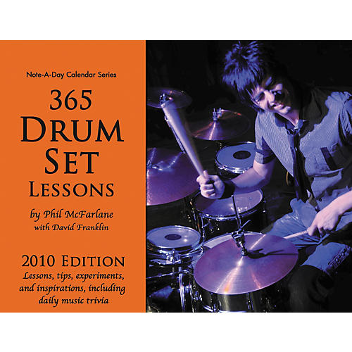 Note-a-Day 365 Drum Set Lessons - 2010 Calendar-thumbnail