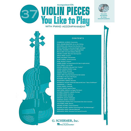 G. Schirmer 37 Violin Pieces You Like to Play (Two Accompaniment CDs) String Solo Series CD Composed by Various