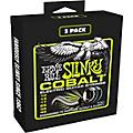 Ernie Ball 3721 Cobalt Regular Slinky Electric Guitar Strings 3-Pack