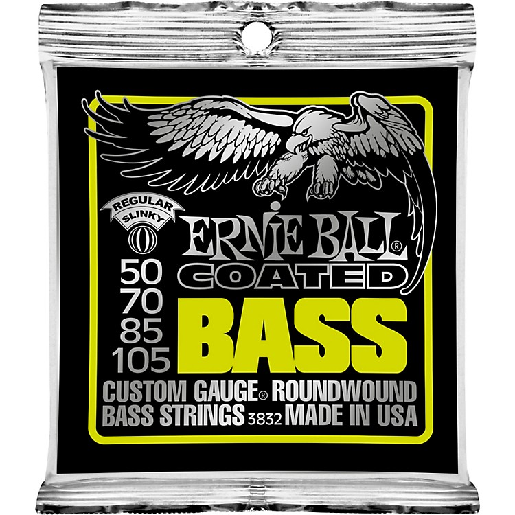 Ernie Ball 3832 Coated Bass Strings - Slinky