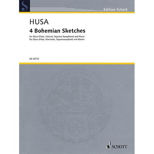 Schott 4 Bohemian Sketches Woodwind Series Book-thumbnail