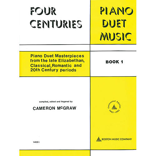 Boston Music 4 Centuries of Piano Duet Music (Book 1) Music Sales America Series Softcover