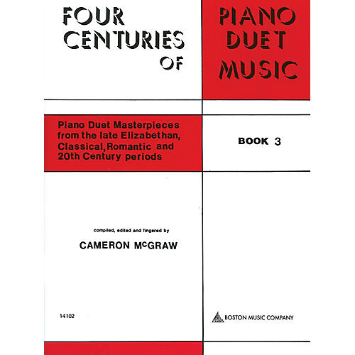Boston Music 4 Centuries of Piano Duet Music (Book 3) Music Sales America Series Softcover-thumbnail