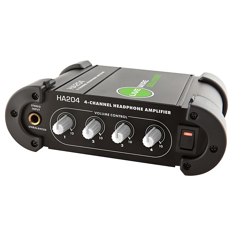 Live Wire 4-Channel Headphone Amplifier Black
