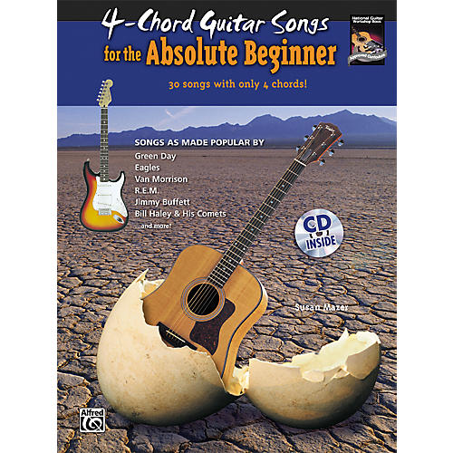 Alfred 4-Chord Guitar Songs for the Absolute Beginner Book & CD-thumbnail