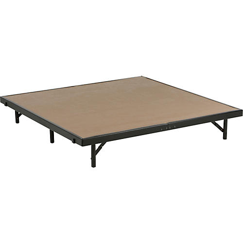 Midwest Folding Products 4' Deep X 4' Wide Single Height Portable Stage & Seated Riser 16 Inches High Gray Polypropylene