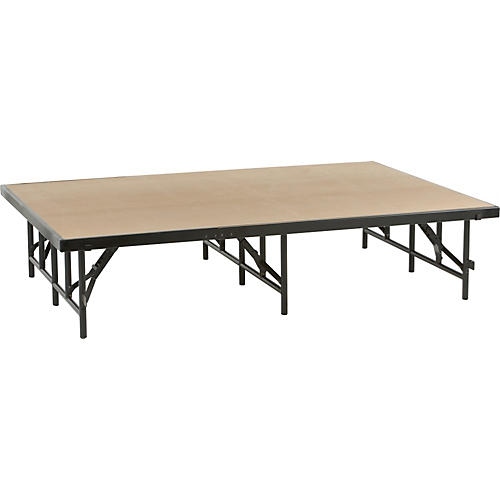 Midwest Folding Products 4' Deep X 6' Wide Single Height Portable Stage & Seated Riser-thumbnail