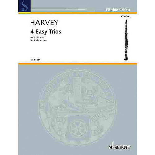 Schott 4 Easy Trios for 3 Clarinets Schott Series Composed by Paul Harvey-thumbnail