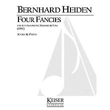 Lauren Keiser Music Publishing 4 Fancies for Alto Sax, Marimba and Tuba LKM Music Series Composed by Bernhard Heiden