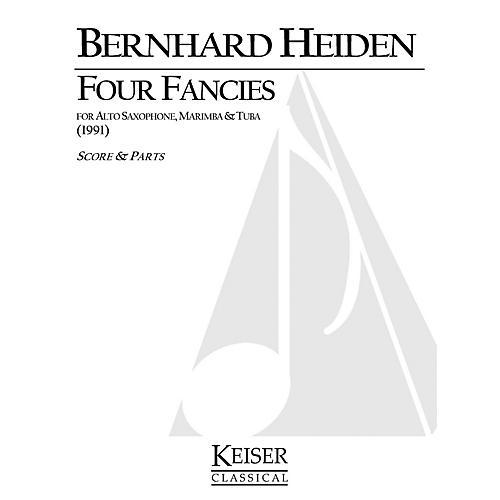 Lauren Keiser Music Publishing 4 Fancies for Alto Sax, Marimba and Tuba LKM Music Series Composed by Bernhard Heiden-thumbnail