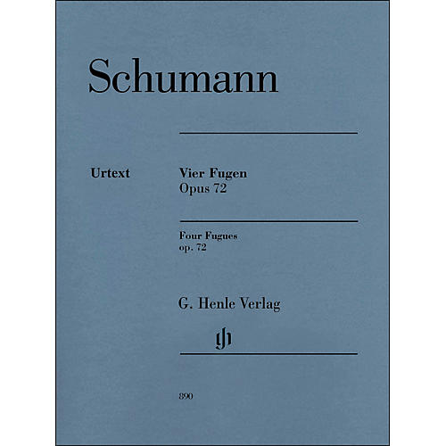 G. Henle Verlag 4 Fugues Op. 72 Piano Solo By Schumann