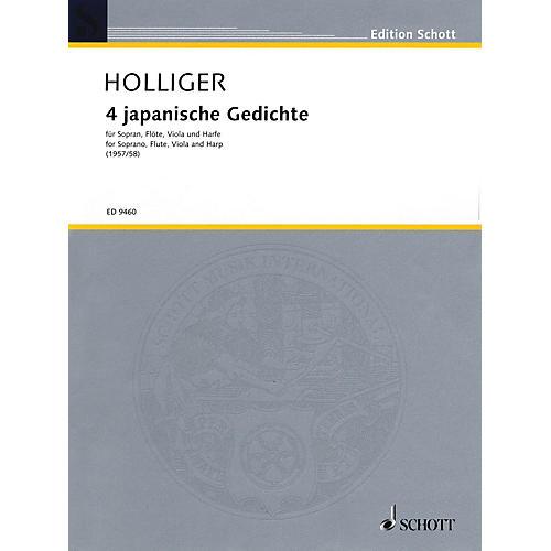 Schott 4 Japanische Gedichte (1957/58) (Score) Schott Series Composed by Heinz Holliger