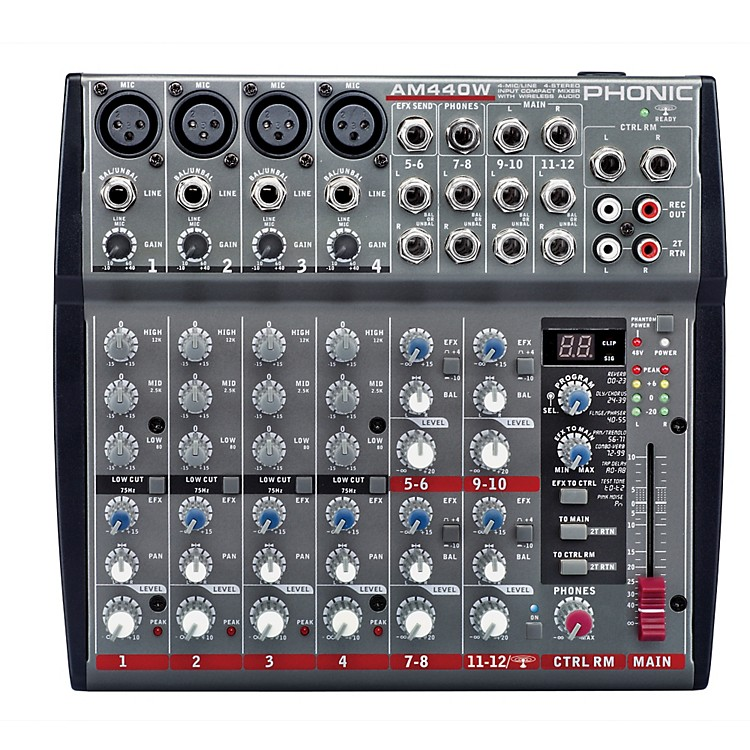 Phonic 4-Mic/Line 4-Stereo Compact Mixer with DFX and Bluetooth Streaming