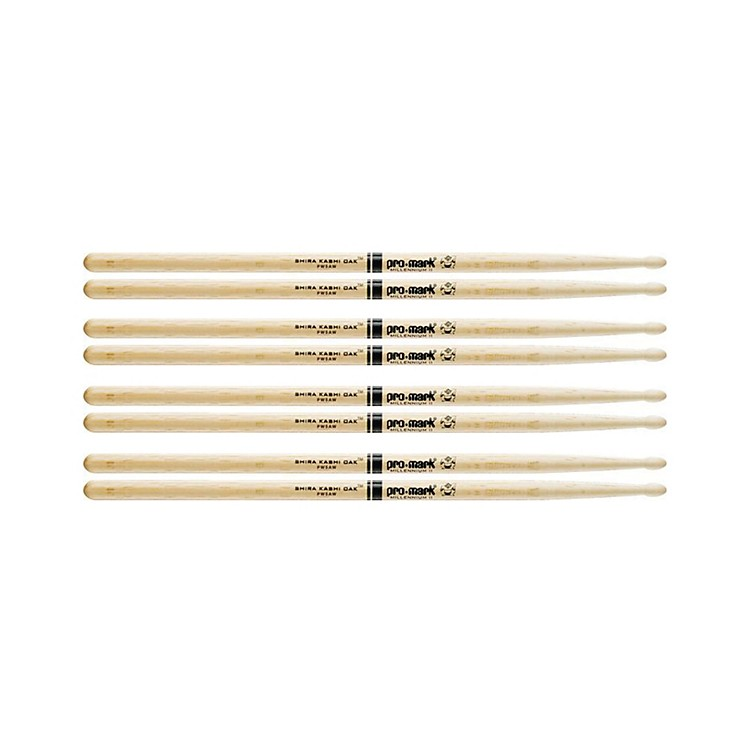 PROMARK 4 Pair Japanese White Oak Drumsticks Wood Tip 5A