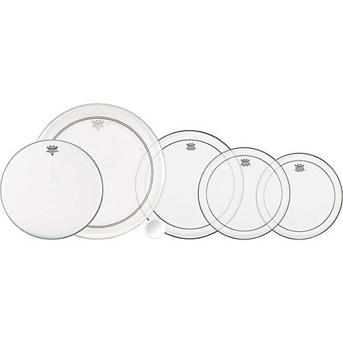 Remo 4-Piece Clear Pinstripe Pro Pack with Free 14 in. Coated Ambassador Snare Drum Head-thumbnail