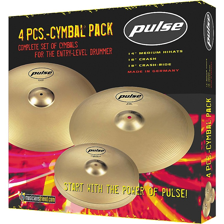 Pulse4-Piece Cymbal Pack 14/16/18
