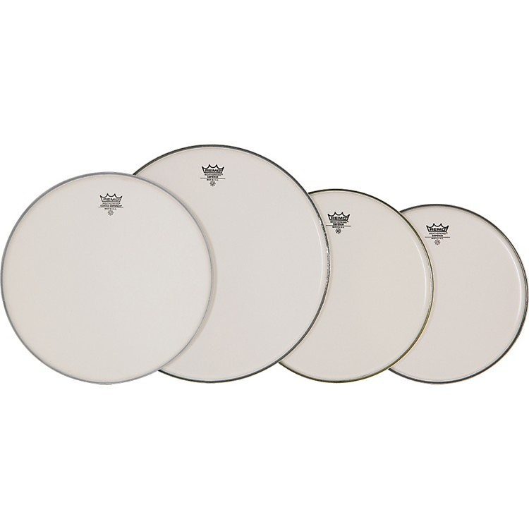 Remo4-Piece Emperor Smooth White Batter Head Pre-pack
