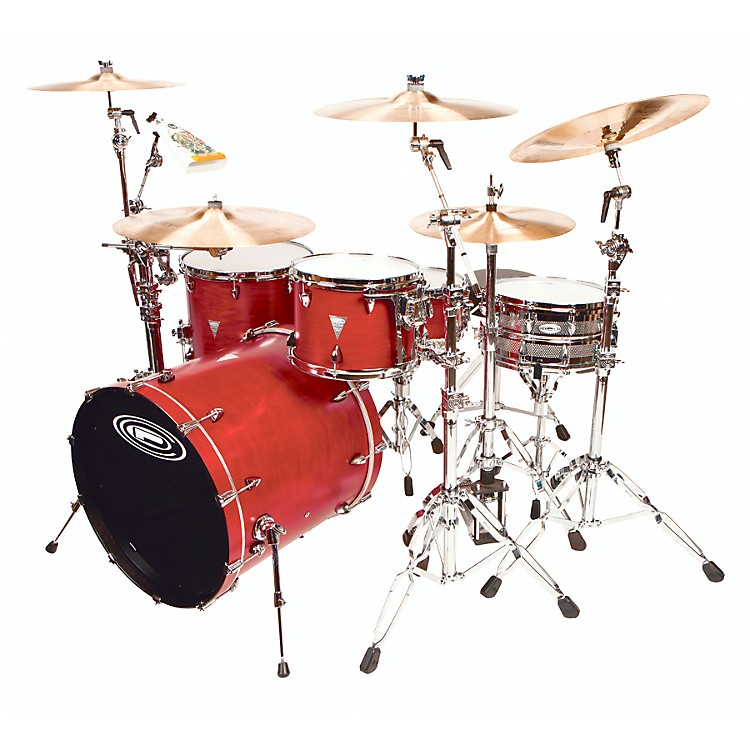 Orange County Drum & Percussion 4-Piece Venice Trans Cherry Wood Shell Pack Trans Cherry Red