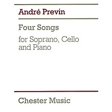 Chester Music 4 Songs (for Soprano, Cello & Piano) Music Sales America Series Composed by Andre Previn