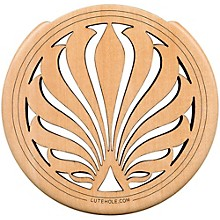 "The Lute Hole Company 4"" Soundhole Covers for Feedback Control in Maple or Walnut Maple Heavy"
