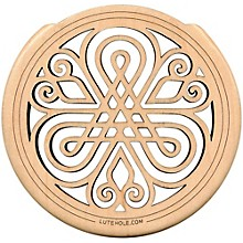 "The Lute Hole Company 4"" Soundhole Covers for Feedback Control in Maple or Walnut Maple Light"