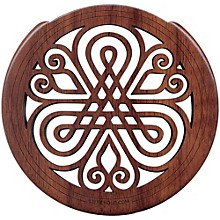 "The Lute Hole Company 4"" Soundhole Covers for Feedback Control in Maple or Walnut Walnut Light"