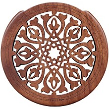 "The Lute Hole Company 4"" Soundhole Covers for Feedback Control in Maple or Walnut Walnut Moderate"