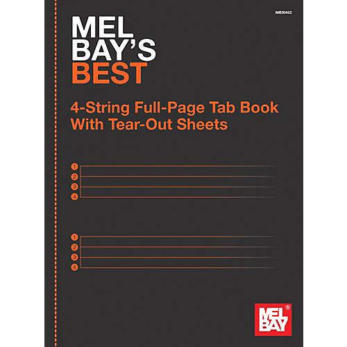 Mel Bay 4-String Full-Page Tab Book