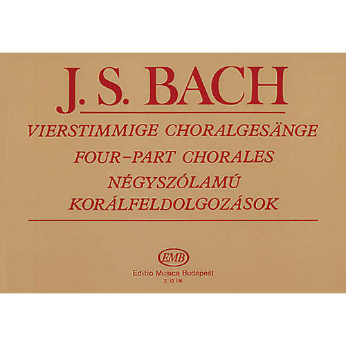 Editio Musica Budapest 4-part Chorales (SATB and Organ) SATB Composed by Johann Sebastian Bach Arranged by Imre Sulyok-thumbnail