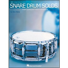 Hal Leonard 40 Intermediate Snare Drum Solos for Concert Performance